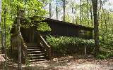 Storybook Cabin in Beautiful Sunrise Valley..... tucked away less than 5 mi from Downtown Blue Ridge. BIG EVERGREENS insulates this Private Setting in an All Cabin Community 10 Screened in Porch, Exte