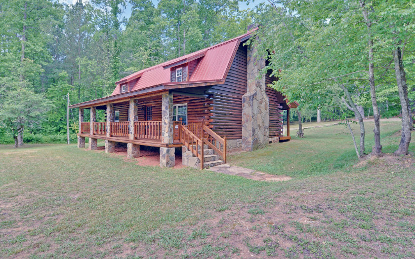 North Georgia Mountain Lakefront Log Cabins Homes For Sale