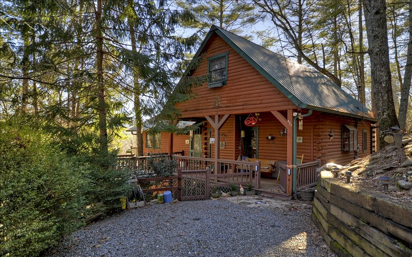 North Georgia Mountain View Log Cabins For Sale